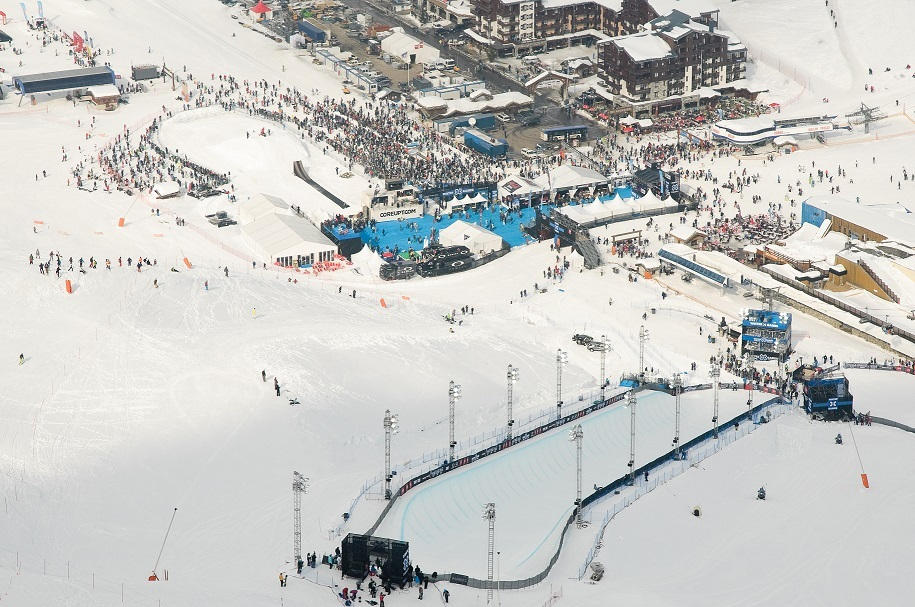 Site of the Winter X Games Tignes