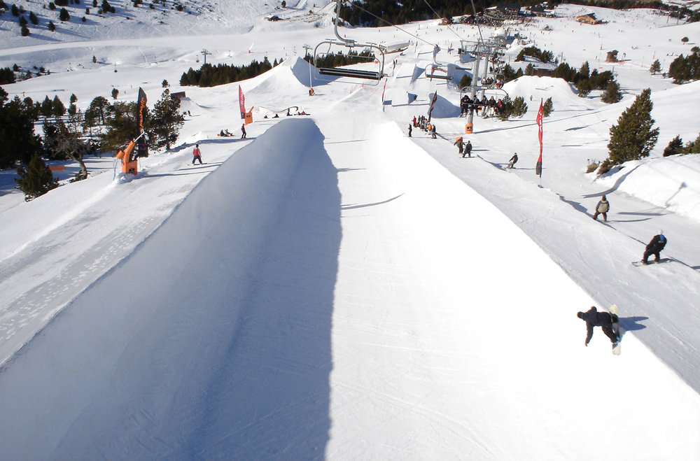 Half-pipe in Grandvalira