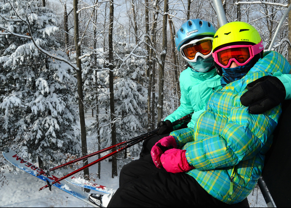 A mother-daughter duo at Granite Peak.