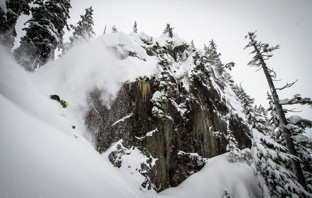 Giffin hits the mark at Mt. Baker. - ©Liam Doran