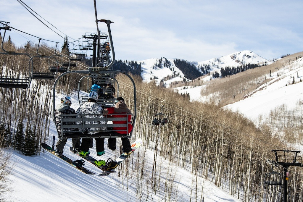 The town lift takes skiers and boarders from downtown Park City up onto the mountain.