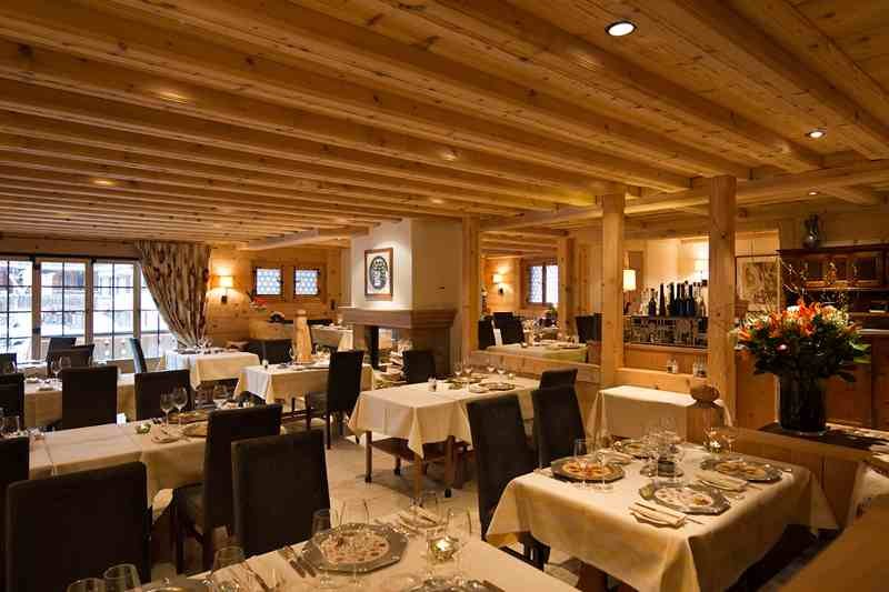 Interior of Restaurant Chesery in Gstaad