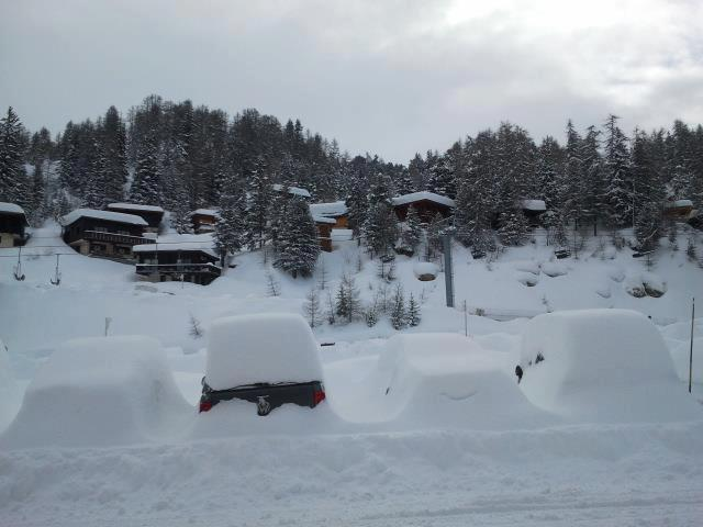 Snow-covered La Plagne. March 19th, 2013