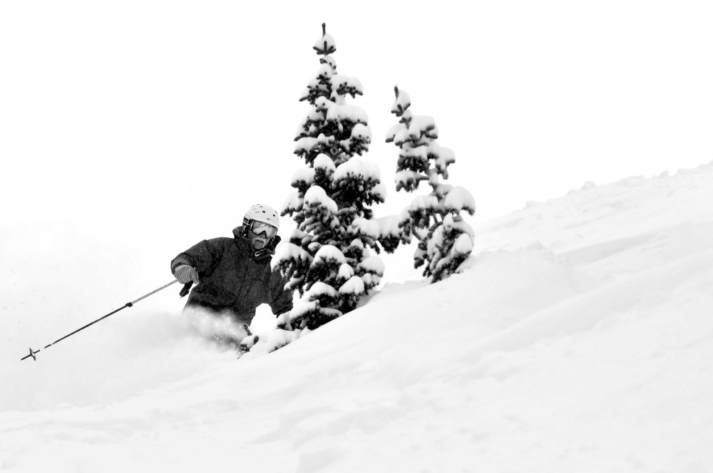 It takes some effort to get there, but Twin Chutes on Peak 9 can deliver the goods on powder days. - ©Josh Cooley
