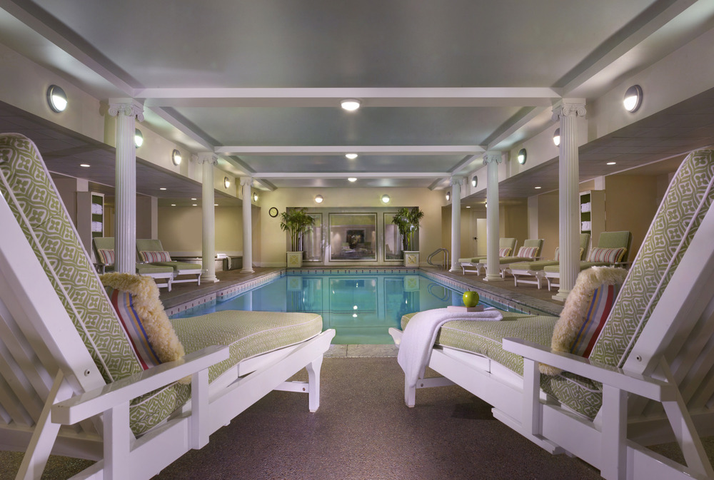 Indoor pool and hot tubs. Photo Courtesy of the Omni Mount Washington Resort.