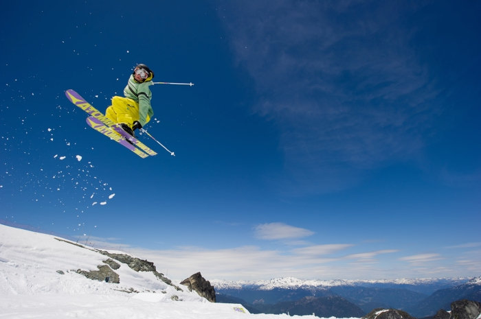Skiing in summer on Horstman Glacier on Blackcomb Mountain. Photo by Mike Crane/Tourism Whistler.