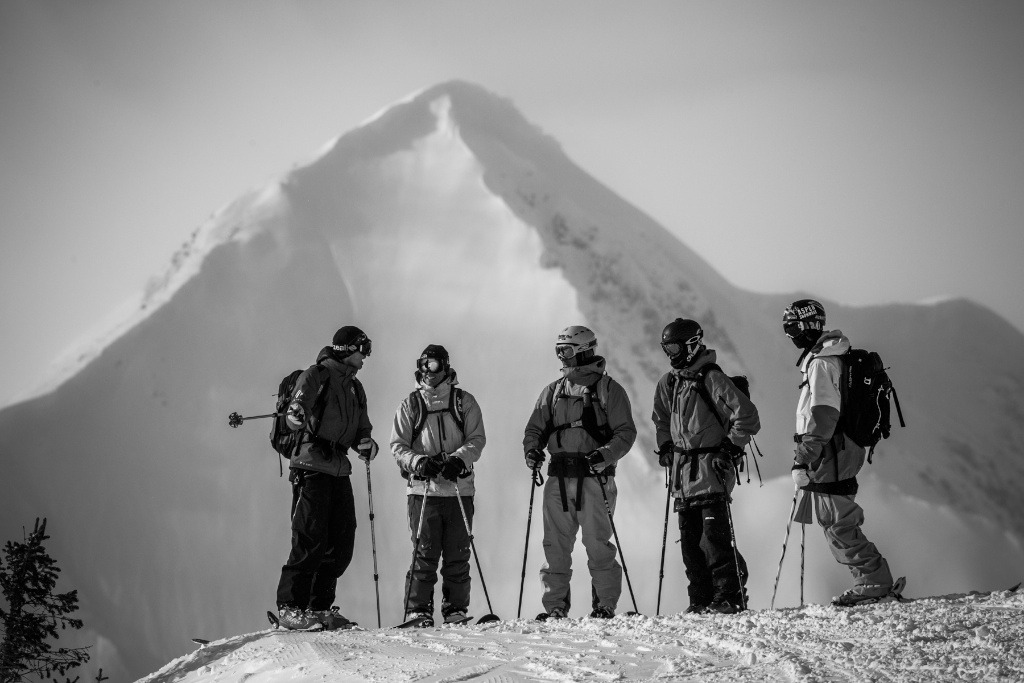 Talking it out at Irwin Cat Skiing. - ©Jeff Cricco