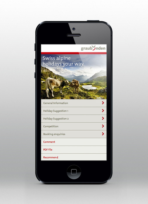Download your travel plan to your iPhone - Graubuenden