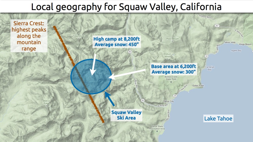 Learn how to predict snowfall totals at Squaw Valley. - ©OpenSnow.com