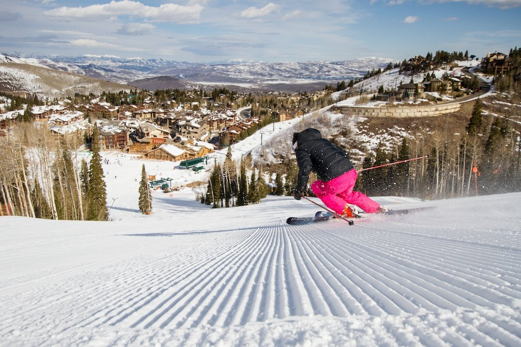 Fresh tracks at Deer Valley Ski Resort