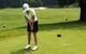 A golfer practice putting at Stratton Mountain Resort Golf U.