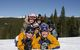 Kids with a ski school instructor in Winter Park, Colorado