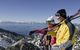 Two skiers get amazing views from Diamond Peak Ski Resort, Nevada