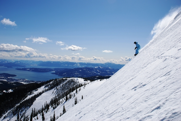 Scenic skiing in Idaho