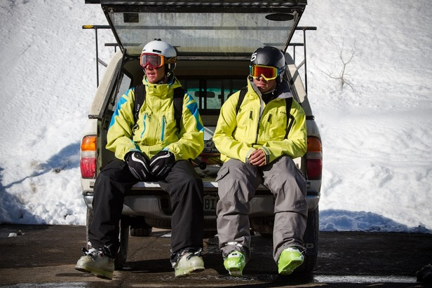 Tired, hungry and de-hydrated, Kyle Sul and Max Kuszaj take it all in.  - ©Liam Doran