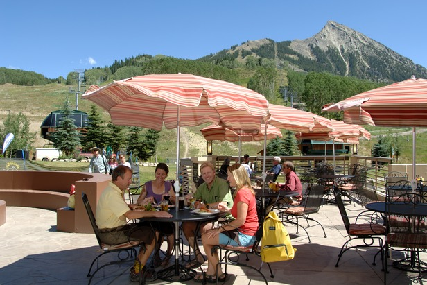 Enjoying the sun at Crested Butte Mountain Resort. Photo by Tom Stillo