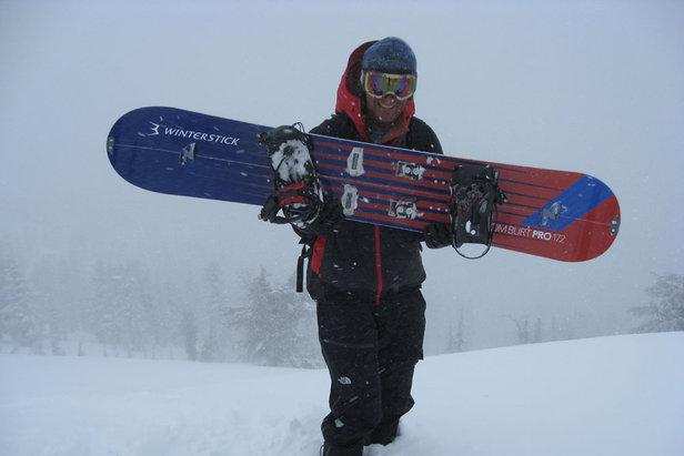 Snowboarder Tom Burt