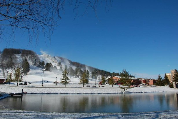 Snowmaking is going full bore at Maryland's only ski area. - ©Wisp Resort