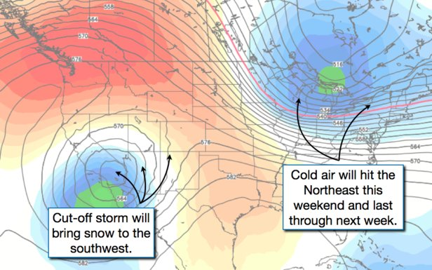 Storm systems week of 11/18/2013