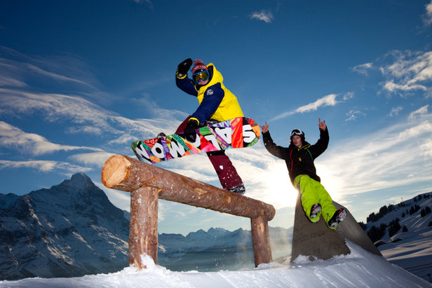 White Elements Pro Park, in front of the north face of the Eiger, Grindelwald - ©Grindelwald