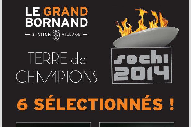 6 champions du Grand Bornand aux JO de Sochi