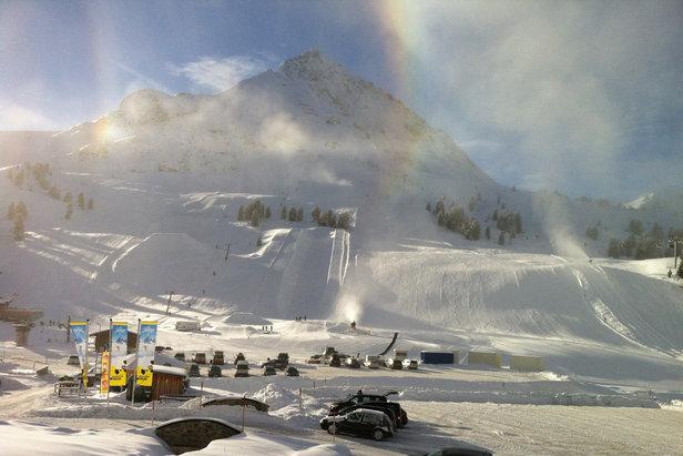 Fantastische condities op de pistes in Kühtai op 15 januari 2014 - ©Facebook Kühtai