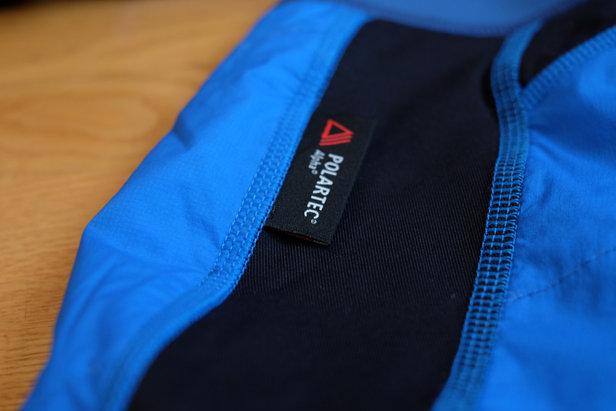Vaude Bormio Pant und Vaude Bormio Jacket sind mit dem neuen Isolationsmaterial Polartec Alpha versehen, dass auch im nassen Zustand noch wärmt, sehr dampfdurchlässig ist und durch Leichtigkeit und Komprimierung überzeugt - ©Skiinfo