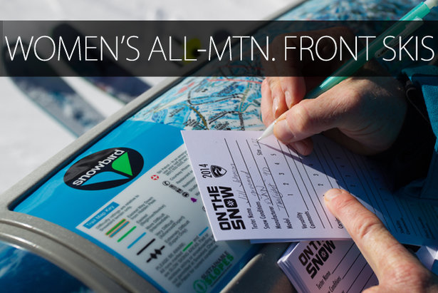 Women's 2015 All-Mountain Front Skis - ©Cody Downard Photography