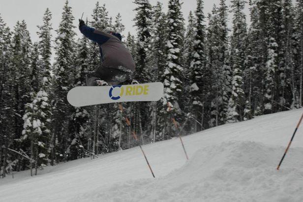 Blacktail snowboarder