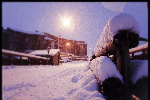 Neuschnee in Alpe d´Huez (16.11.2014) - ©Cyrille Quintard