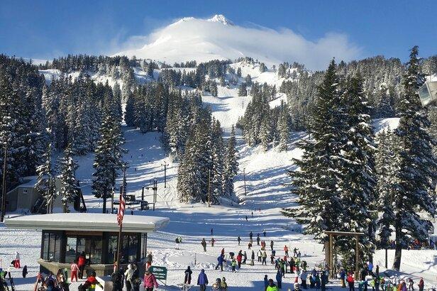 Mt. Hood Meadows revels in powder followed by blue skies this week. - ©Mt. Hood Meadows