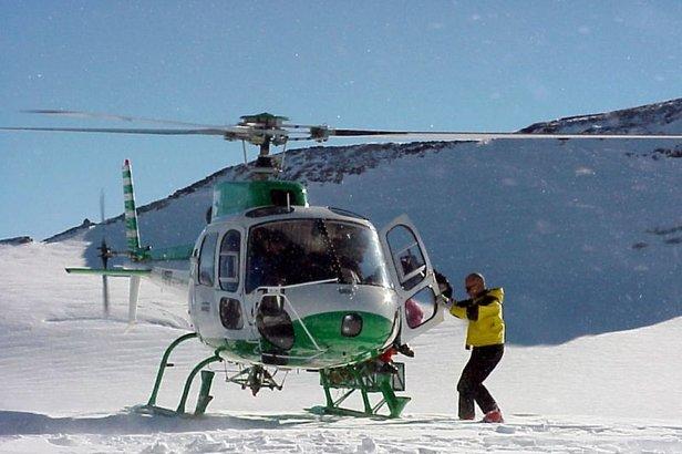 Elicottero a La Thuile, Italia