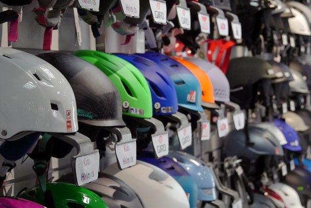 Wide selection of helmets at Edge & Wax - ©Edge & Wax