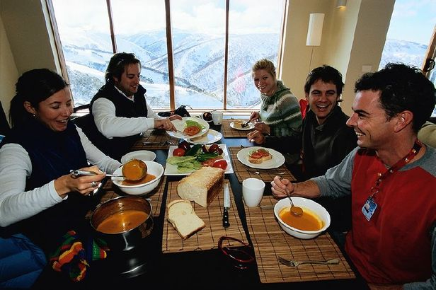 Dining on mountain