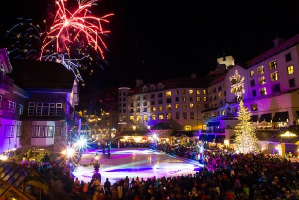 Beaver Creek's Leon Black Family Ice Rink offers exciting weekly themed skating events - ©Cody Downard