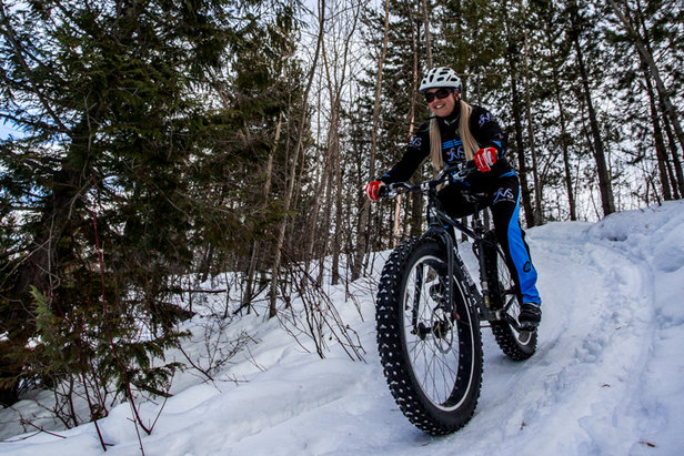 Checking out the fat bike trails at Kimberley Alpine Resort, B.C. - ©Raven's Eye Photography/RCR
