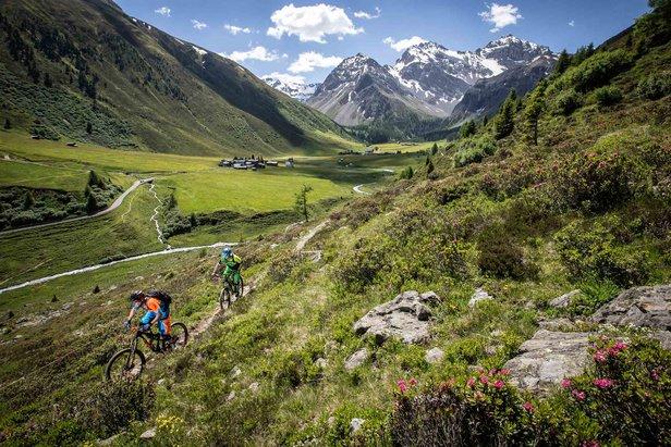 In Graubünden is elk pad een fietsroute - ©Graubünden Ferien