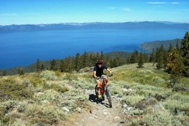 Riding above Lake Tahoe.  - ©Tahoe Rim Trail