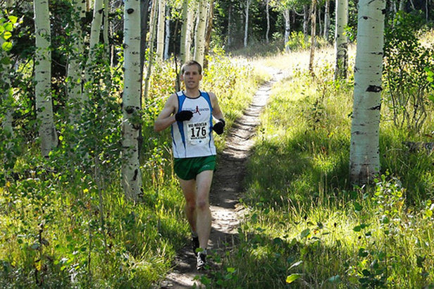 A runner passes through aspen stands along the Mid Mountain Trail in Park City, Utah. - ©Mountain Trails Foundation