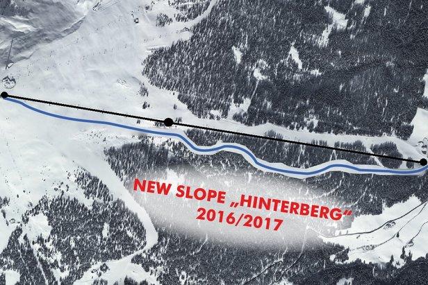 Hinterberg - nowa niebieska trasa na Kronplatzu - ©Kronplatz