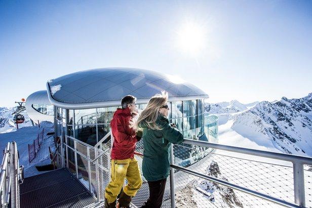 Pitztal - najwyżej położona kawiarnia w Austrii – 3440 m n.p.m. - ©Pitztaler Gletscherbahn by Daniel Zangerl