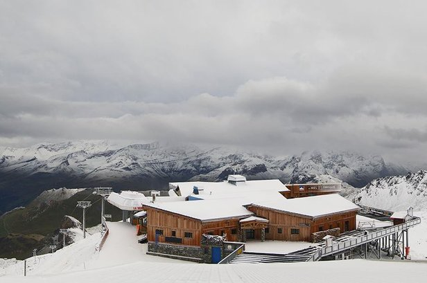 Premiers flocons de neige sur les sommets - ©Facebook Tignes