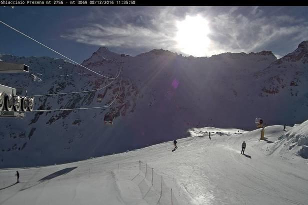 Com'è la situazione neve in pista? Webcam in diretta - ©Ghiacciaio Presena Webcam
