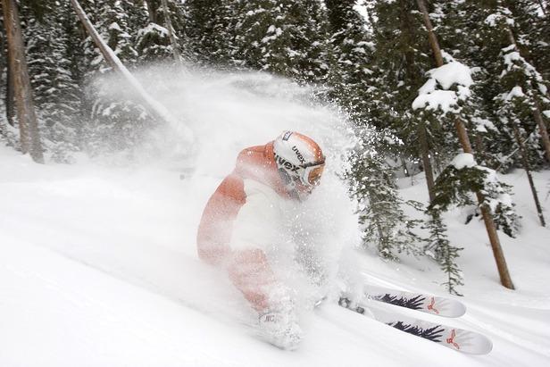 Angel Fire NM Powder skier
