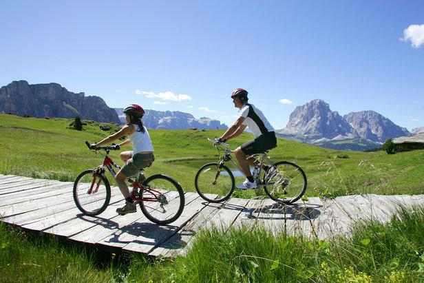 Mountain bike in Val Gardena