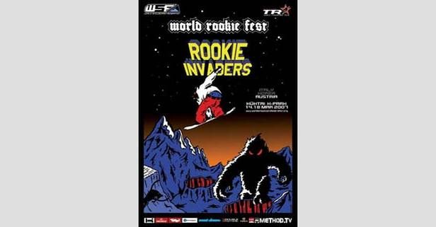 Kühtai - snowboard poster 225px