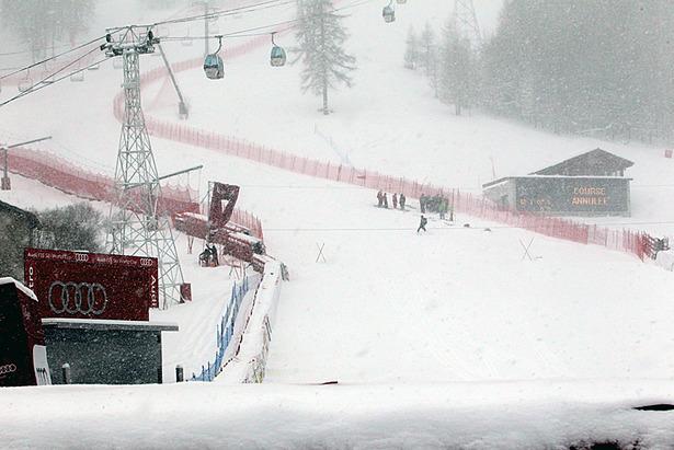 Starkes Schneetreiben in Val d`Isere  - ©Christophe PALLOT/AGENCE ZOOM