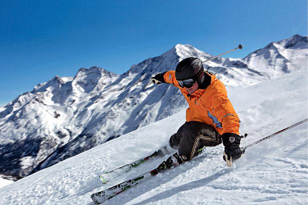 Skifahrer - ©Saas-Fee/Saastal Tourismus