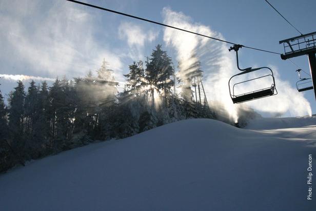 Fresh coats of powder await skiers at Snowshoe. Photo Courtesy of Snowshoe Mountain Resort.