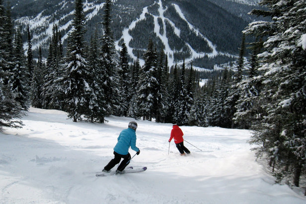 Skiers can try to keep up with Nancy Greene (in red) at Sun Peaks. Photo by Becky Lomax.  - ©Becky Lomax